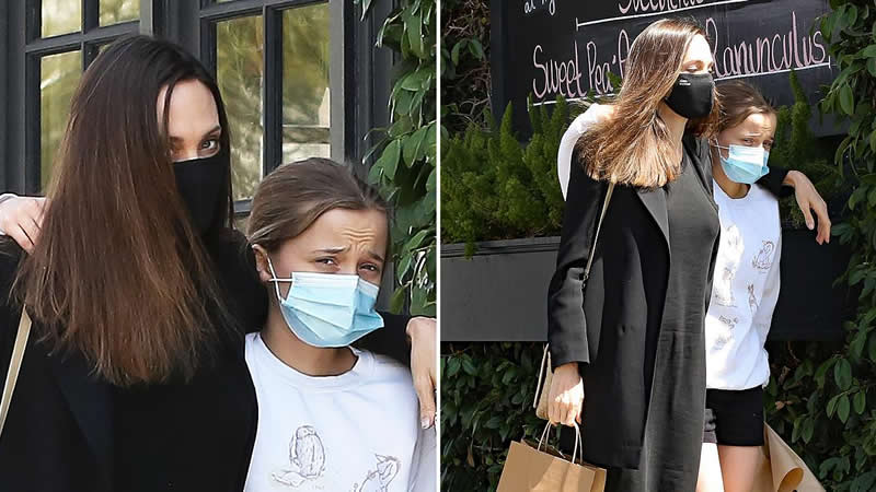 Angelina Jolie Hangs With Daughter Vivienne