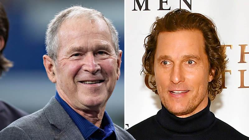 Matthew McConaughey gets advice from Bush